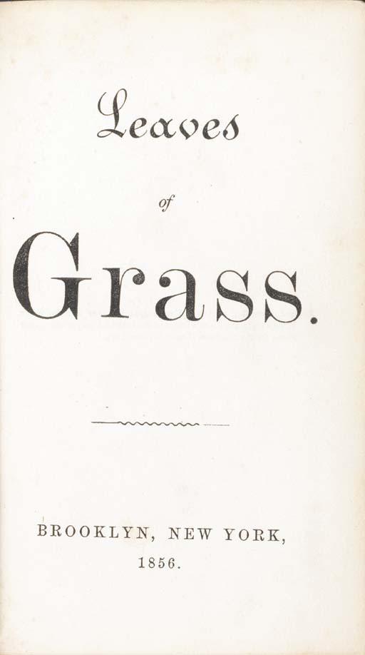 WHITMAN, Walt. Leaves of Grass