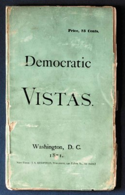 WHITMAN, Walt. Democratic Vist
