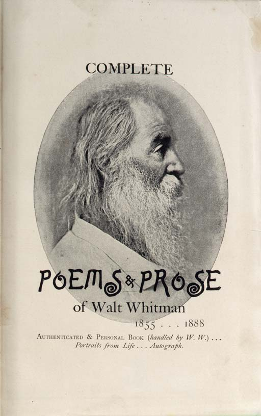 WHITMAN, Walt. Complete Poems