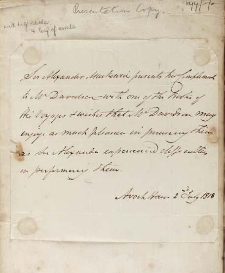 MACKENZIE, Alexander (1764-182