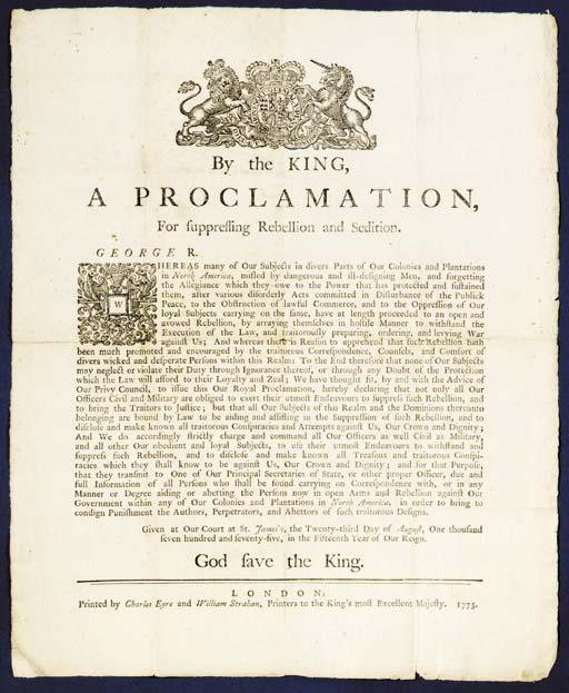 GEORGE III, King of England (1