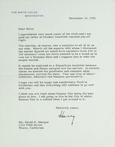 TRUMAN, Harry. S., President.
