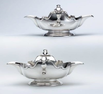 A FINE PAIR OF GEORGE I SILVER
