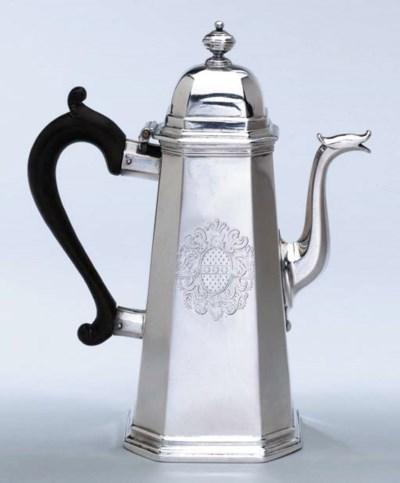 A FINE GEORGE I SILVER COFFEE