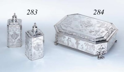 A PAIR OF JAMES II SILVER SCEN