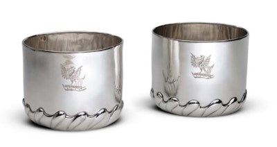 A RARE PAIR OF JAMES II SILVER