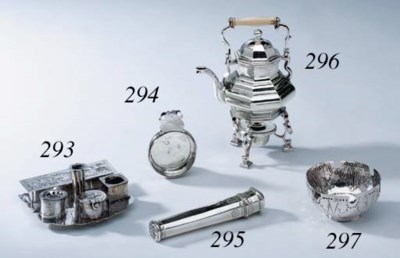 A CONTINENTAL SILVER TOY KETTL