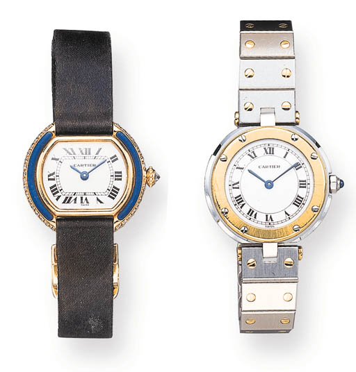 TWO LADY'S  WRISTWATCHES, BY CARTIER