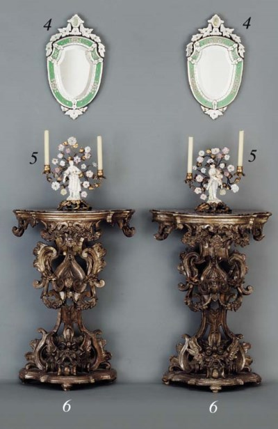 A MATCHED PAIR OF ITALIAN BARO