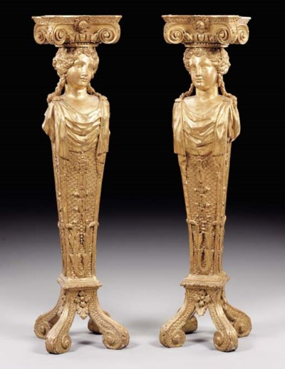 A PAIR OF GEORGE II GILTWOOD P