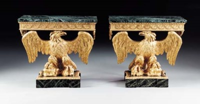 A PAIR OF GEORGE II GILTWOOD A
