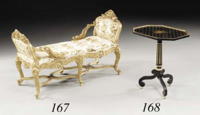 A LOUIS XVI STYLE BLACK AND GO