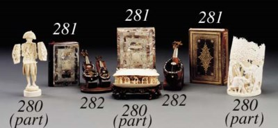 A GROUP OF IVORY ARTICLES**