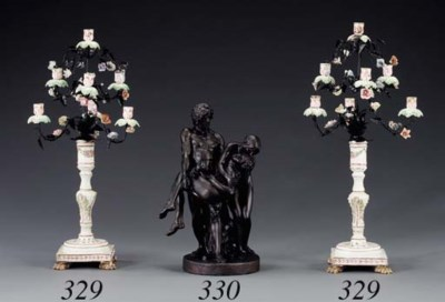A FRENCH BRONZE GROUP OF 'LES