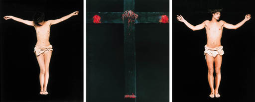 bettina rheims b 1952 the crucifixion christie 39 s. Black Bedroom Furniture Sets. Home Design Ideas