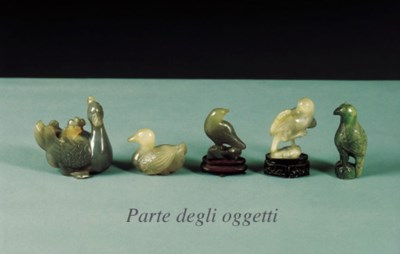 VARIE SCULTURE IN PIETRA DURA,