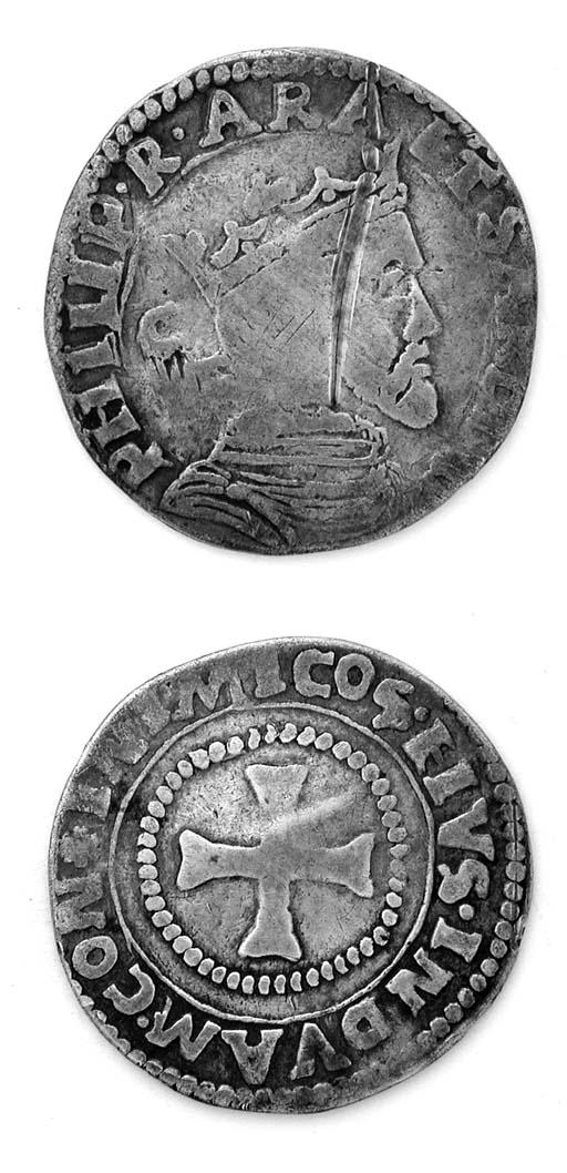 Filippo II di Spagna, 3 Reali,