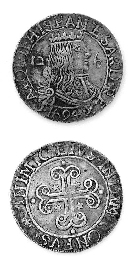 Carlo II di Spagna, 2½ Reali,