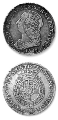 Carlo Emanuele III, Scudo, 175