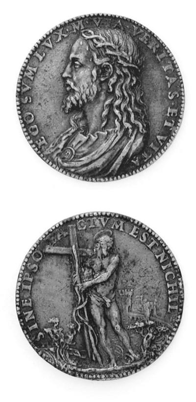 Gesù Cristo, medaglia in bronz