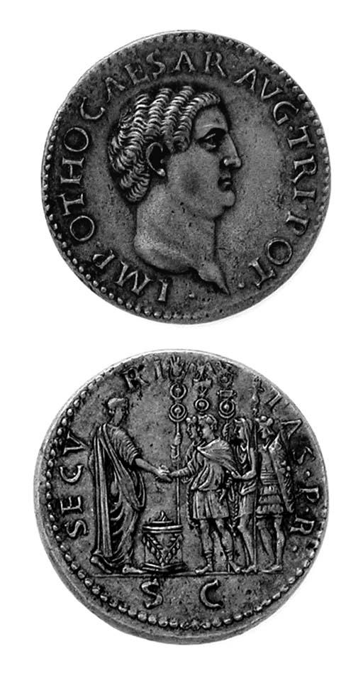 Otho, bronzo, 35mm., rov. SECV