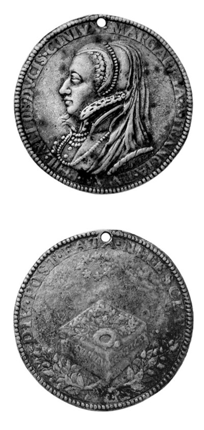 Margherita di Francia, bronzo,