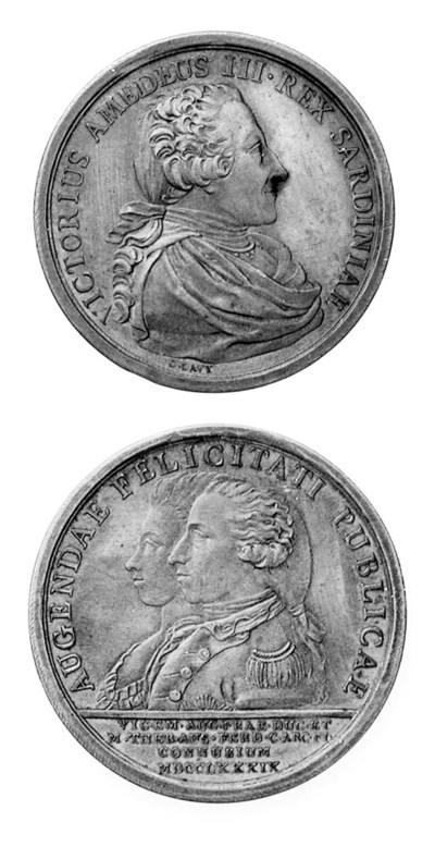 Vittorio Amedeo III, bronzo, 4