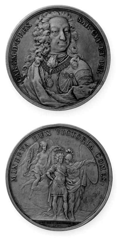 Carlo Emanuele III, bronzo, 54