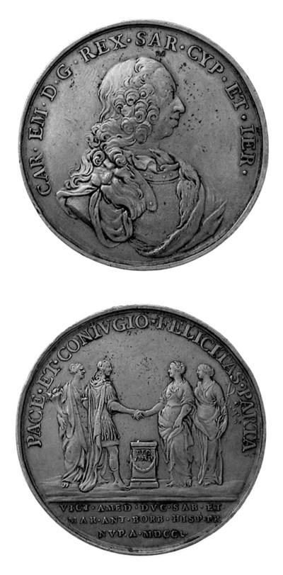 Carlo Emanuele III, bronzo, 52
