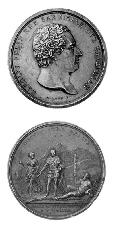 Carlo Felice, bronzo, 52mm., o