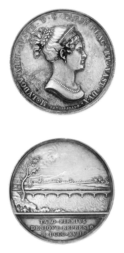 Maria Luigia, argento, 40mm.,