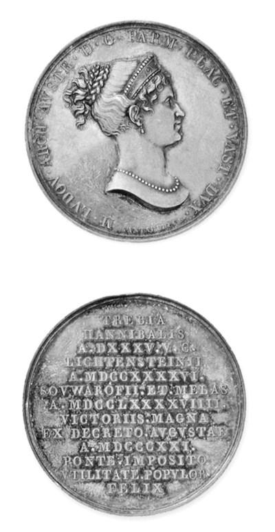 Maria Luigia, argento, 41mm.,