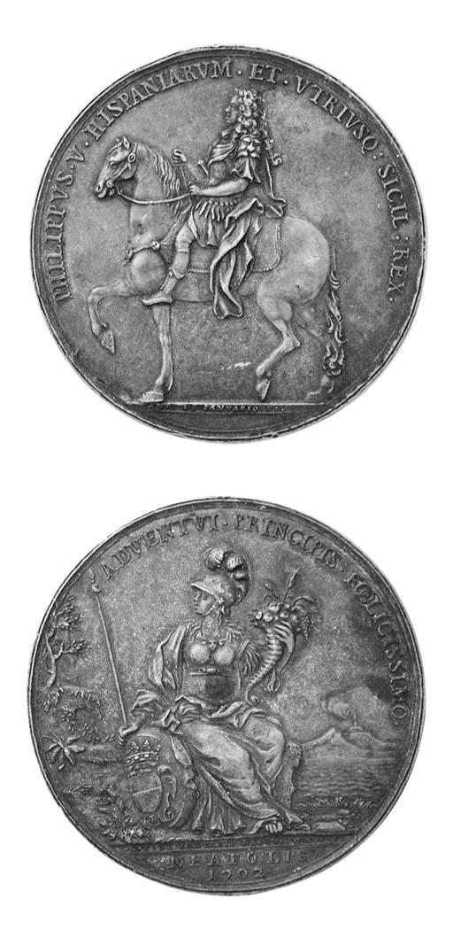 Filippo V, bronzo, 59mm., simi