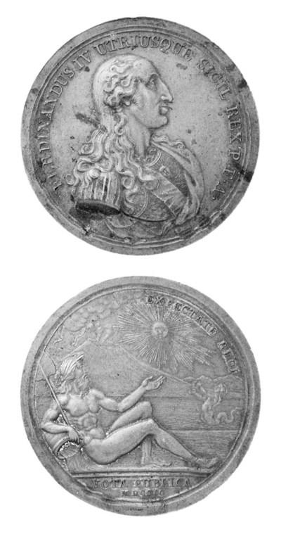 Ferdinando IV, bronzo, 71mm.,