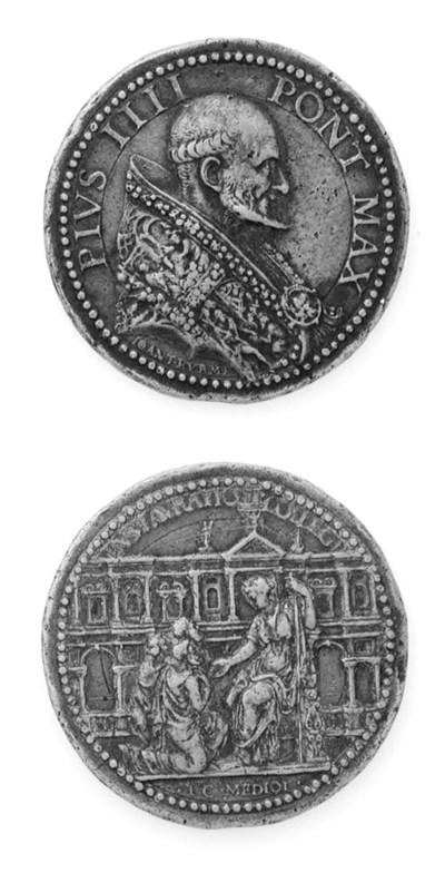 Pio IV, de'Medici, bronzo, 43m