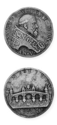 Sisto V, Peretti, bronzo, 42mm