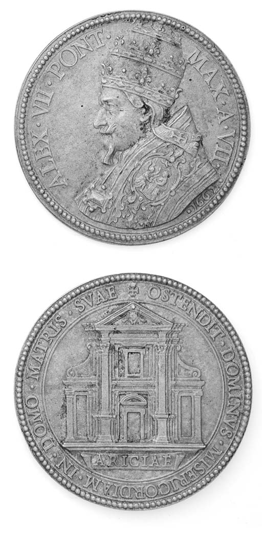Alessandro VII, Chigi, bronzo,