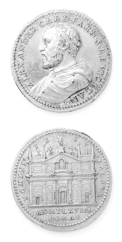 Cardinale Farnese, bronzo dora