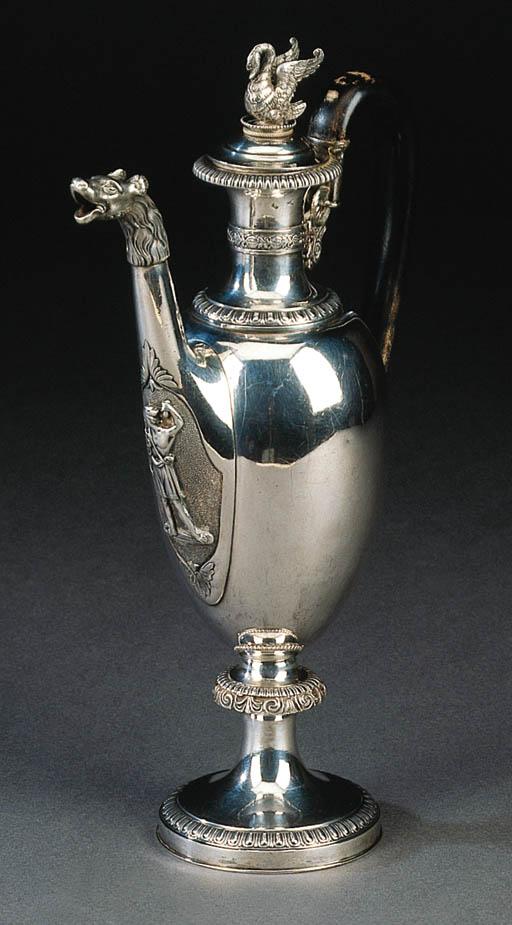 Interessante caffettiera in argento, Milano