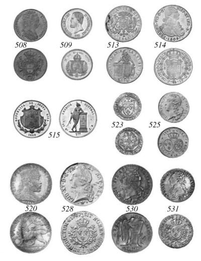 Pattern Peso, 1850, in white m