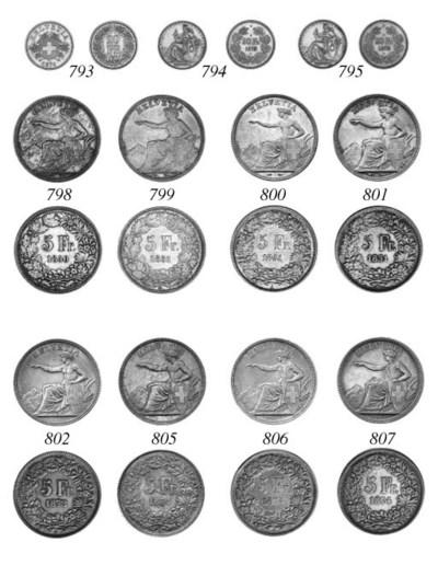 5-Franken, 1874 with dot, simi