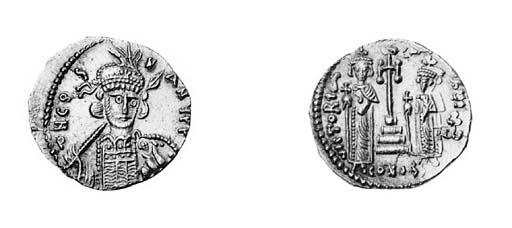 Solidus, Rome, three-quarter f