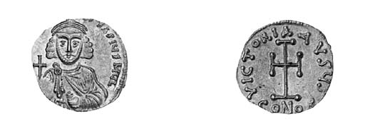 Tremissis, obverse as previous