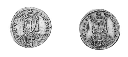 Solidus, facing bust of Artava