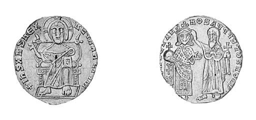 Solidus, Christ seated on thro