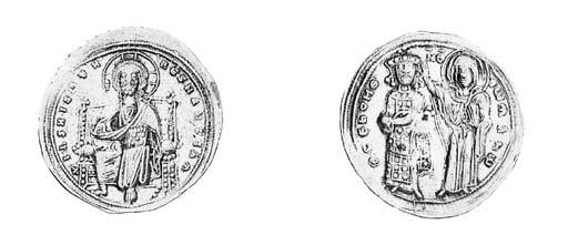 Histamenon, Christ, nimbate, e