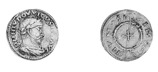 Solidus, Aachen, c.816-818, DN