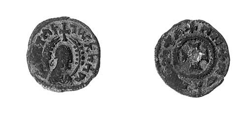 Bronze, 1.33g., draped half-le