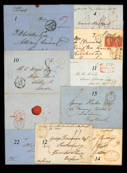 cover 1856 (17 Oct.) envelope