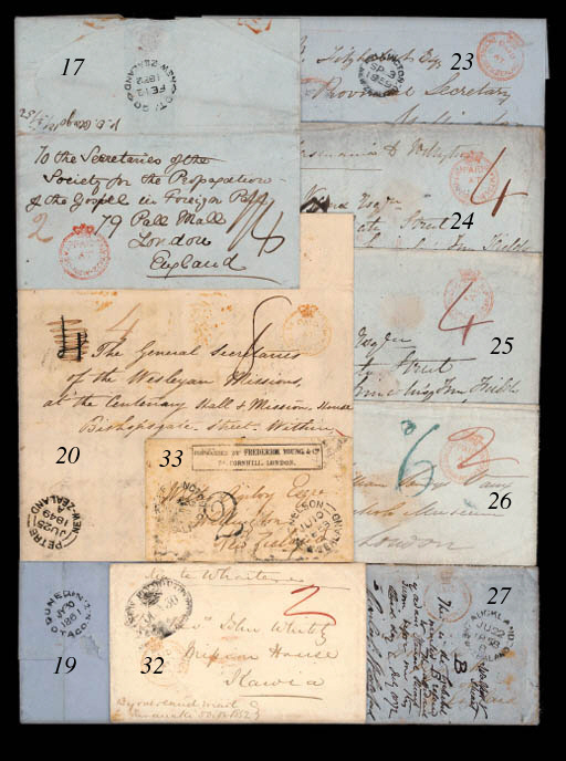 cover 1853 envelope from Henry